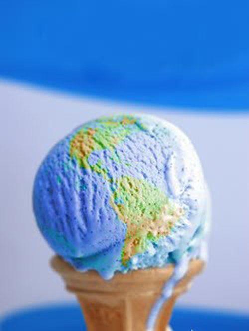 Ice cream  world map