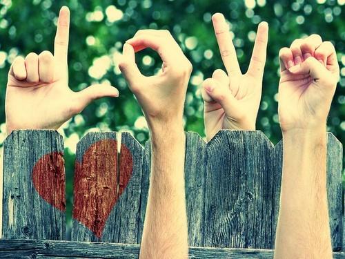 Love gesture