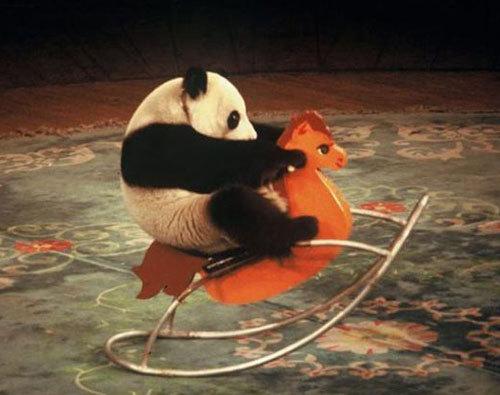 Rocking horse panda