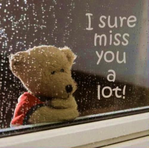 I miss you a lot